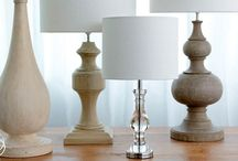 Lighting / Lamp bases, lamp shades, festive