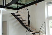 escalier interieur 2 quarts tournant contemporain