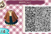Animal Crossing: New Leaf QR Codes - Girl Clothes
