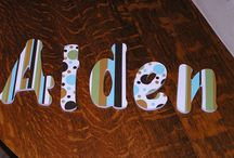 Customized Letters / Examples of custom work that That's so You has created.