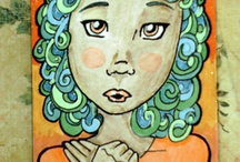ACEO ARTIST TINY ART TRADING CARDS / by Sue Anderson