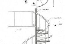 ESCALERAS / Escaleras metálicas, de madera, en caracol, basculantes, lineales, etc