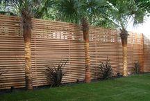 Pared madera jardin