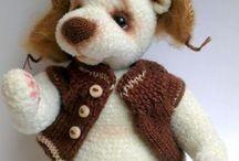 мишка вязание