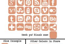 Blog Design Creations / Blog design elements such as social media icons, semi-custom banners, backgrounds / by Holly Hartman