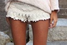 Lace shorts, Lace everything