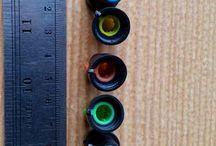 5 pcs knop Mixer 5 warna diameter 15 mm