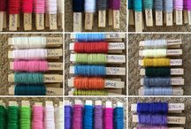 Yarn colour board