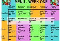 Childcare menu