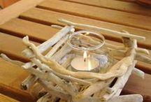 ξύλινα κεριά πολλά