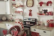 piros-fehér konyha