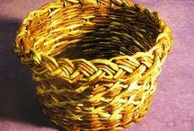 плетение из газет/ newspaper basket.