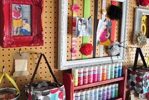 Pegboard Walls / All different way to use pegboards around your home and office.