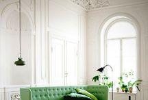zielone wnętrze
