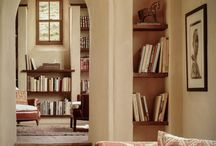Home library, reading nook, books display