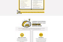 landing page with infographic
