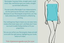 Rectangle Body Type / Rectangles' long lean limbs, straight waist, small chest, hips, and bottom give you svelte, straight-up-and-down silhouette. You are surely a Rectangle if you measurements are the same across the bust, waist, and hips.