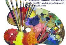 Kunstner-coaching / Hvad kan du som kunstner bruge coaching til? Hjælp til at de kan få ideer til at ud og sætte dem igang med deres kunst. Til at turde overskride deres grænser og få deres egen ideer til det med fælles hjælp fra mig til at få deres ideer til at blive til virkelighed.