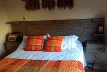 pie de cama tejido al telar