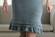 fuste tricotate