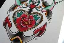 Traditional tattoos.