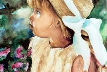 Auretha's Paintings: old & new / I have been painting watercolor portraits and paintings since age 12, thanks to Grandma Doris!! I also paint acrylics. I LOVE foils, especially copper. I want people to have a spiritual experience with my paintings. / by Auretha Callison