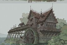 Medieval and fantasy buildings