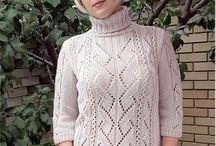 Вязание - свитер геометрия имитация вшивного рукава