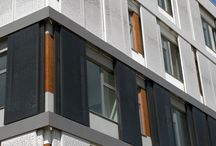 External Shutters / Inspirational architecture pictures of folding and sliding shutters by Hunter Douglas.