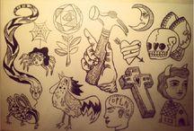 Paper / Draws, Flash Tattoos, This&That