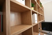 ALD | Residential Fit Outs / Home Office Fit Out in zebrano laminate