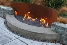 Firepit/ wood storage