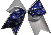 Spangle Cheer Bows / Cheer bows with beautiful, sparkly spangle designs.