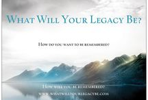 What Will Your Legacy Be? / Philanthropy...your opportunity to create positive change. https://www.facebook.com/WhatWillYourLegacyBe