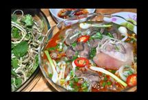 Vietnamese food / all of Vietnam food from food are served in restaurant to food is sold  in the street, in front of school, night life food, food are served your guest