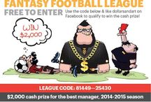 Barclays Premier League Fantasy Football / Fantasy Football league pins for social media Free to enter opening 1st August every year 2013  / 2014 $1000  of dollarsandart prize league 2014  /2015 $2000  of dollarsandart prize league 2015 / 2016 $3000  of dollarsandart prize league and beyond. 2016  /2017 $3000 of dollarsandart
