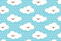 Estampas Clouds & Drops