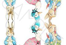 Peter rabbit prints