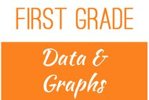 First Grade: Data and Graphs / This board contains resources for Texas TEKS: 1.8A -  collect, sort, and organize data in up to three categories using models/representations such as tally marks or T-charts  1.8B -  use data to create picture and bar-type graphs  1.8C -  draw conclusions and generate and answer questions using information from picture and bar-type graphs
