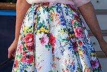 Faldas florales