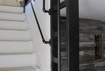 Exterior hand rails