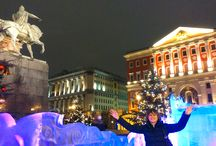 New Year and Christmas 2015: Moscow / Moscow, the capital of Russia, is ready to meet 2015! Ice sculptures, amazing illumination, fantastic monuments and much more on my photos here.