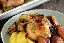 Chicken Pieces - w/ Vegetables, Fruit