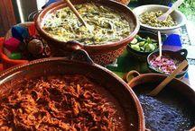 Comida mexicana montaje