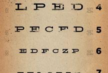 Echelle Monoyer - test de la vue / Les fameuses affiches du test de la vue chez les opticiens ou les orthoptistes et ses déclinaisons rigolotes. Belle décoration pour vos murs !