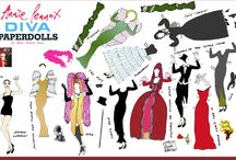Annie Lennox / Annie Lennox paperdolls, paperdolls made by me / by Myler Edson Moss