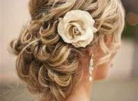 wedding hair and face