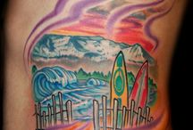 Landscape Tattoos / http://www.tattoosideas.co.uk/landscape-pictures.html