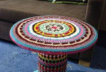 mesa de centro crochet
