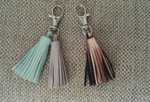 Leather Tassels / https://www.etsy.com/shop/PinkHippoCrafts